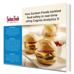 How Surlean Foods tackled food safety in real-time using Cognos Analytics 11